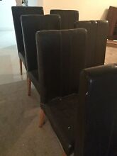 8 chocolate dining chairs Landsdale Wanneroo Area Preview