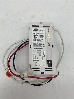 Hunter Fan Co. Fan & Light Control Model 27185-060 Part No.