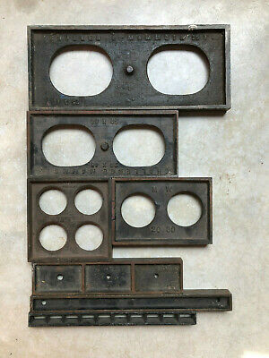 Assortment Of Metal Letterpress Furniture