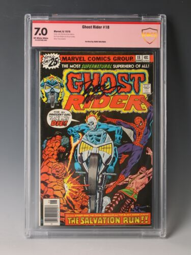 Ghost Rider #18 CBCS 7.0 Signed by Marv Wolfman
