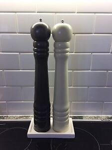 Jumbo 40cm tall pepper and salt grinders Mosman Mosman Area Preview