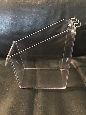 Clear Plastic Peg Board Tray Holder- Pegboard Not Included - Fast Shipping