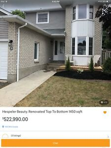 Renovated Top To Bottom (HESPELER ) 2 Min to 401