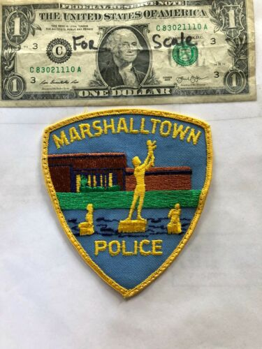 Rarer Marshalltown Iowa Police Patch pre-sewn good shape