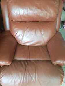 Genuine Leather Recliner Ruse Campbelltown Area Preview
