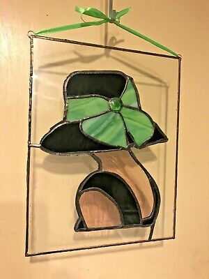 Stained Glass, Day at the Races Lady with Green Bow