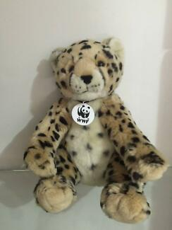 Build A Bear Workshop USA WWF Roaring  Cheetah Collectibear