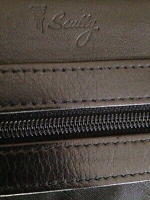 Scully Leather Planner Organizer Binder Portfolio With Zipper Pocket Clasp