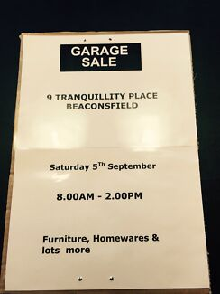 """""""GARAGE SALE"""" Beaconsfield - Sat 5th September 8am - 2pm Beaconsfield Cardinia Area Preview"""