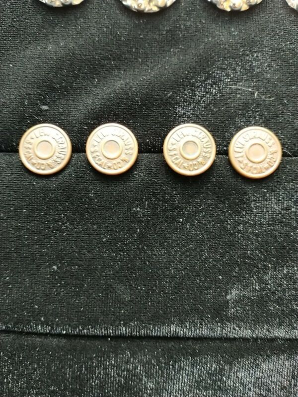 Vintage Levi Strauss (4) Button Metal Buttons Work Clothes