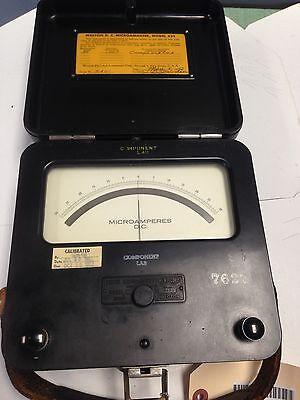 Used Western Electrical 622 Microamperes D.c. Range 30 Meter Reader Fc