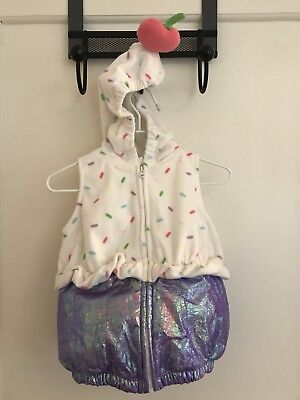 Infant Baby Costume 3-6 Months Ccarters Ice Cream Sunday Cherry On Top Zip - Cherry Baby Kostüm