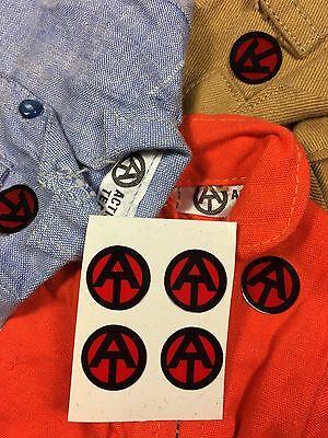 4x Sticker Action Team Man GI Joe wie ORIGINAL rot transparent Aufkleber