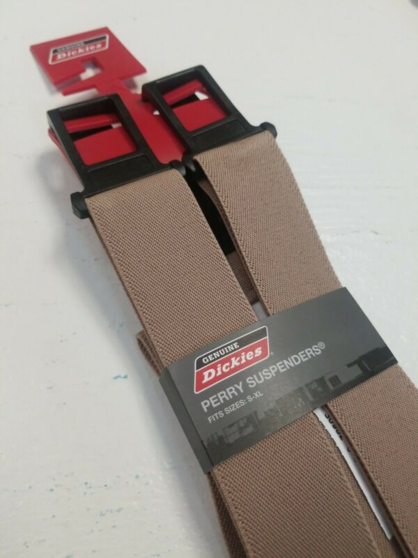 New Dickies Perry Adjustable Suspenders - Khaki