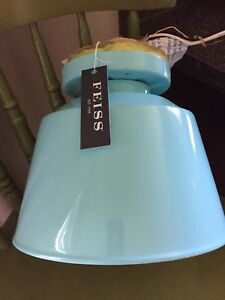 NEW - FEISS enameled light fixture