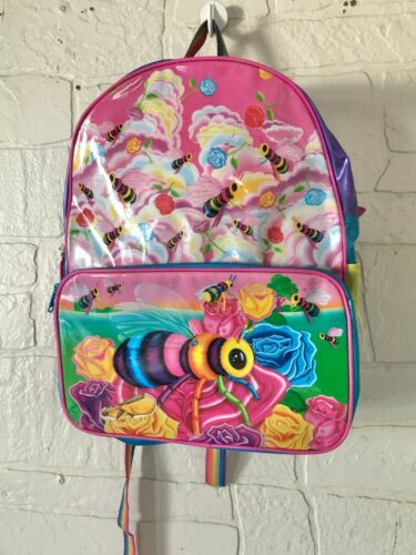 Vintage Lisa Frank Buzz Bumble Bee Roses Flowers RARE Backpack Broken Strap