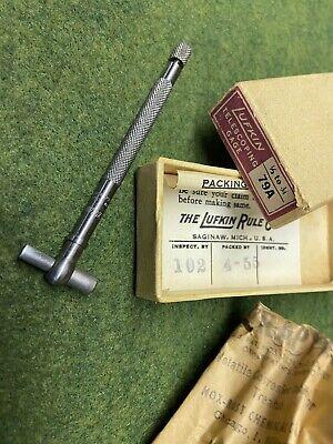 Nos Vintage Lufkin Telescoping Gage 79a 12 To 34in Original Box