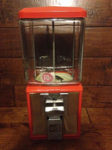 Vintage Glass Northwestern Model 60 TEN CENT Nut Gum Antique Vending machine !
