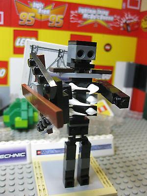 Legos Minecraft Custom Mutant Skeleton Mod Mob  W  Bow   4 5 Inches Tall Unique