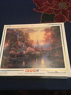 NEW Thomas Kinkade Jigsaw Puzzle Nanette's Cottage 1500 Pieces