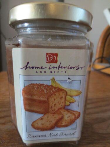 HOME INTERIOR JAR CANDLE-BANANA NUT BREAD