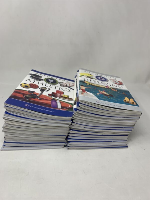 Lot of 40 Boy Scout Merit Badge Series Books Pamplets Preowned