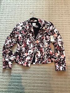 NEW-235-Aritzia-Wilfred-Spring-Floral-Dieppe-Moto-Biker-Jacket-0-XS-Multi-color