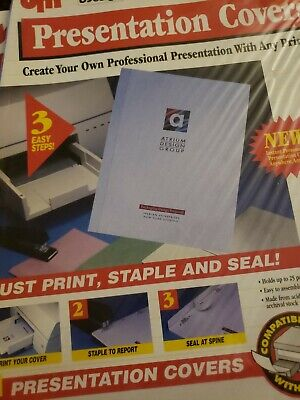 Presentation Covers 30 Sets Ea Holds 25 Sheets Print On Printer Then Seal.easy