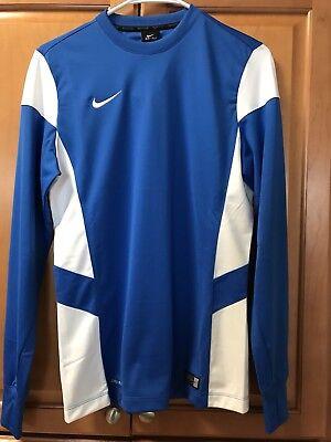 Nike Running Better World Long Sleeve Dri Fit Shirt Royal Blue Men's Size~S