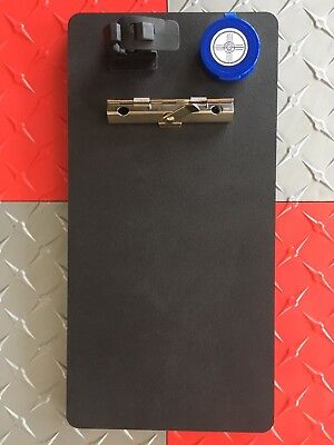 Police Clip Board Black Rugged High Density Poly With Free Finger Print Pad