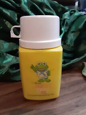 Jim Henson The Muppet Babies Kermit The Frog Thermos Vintage