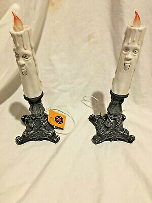 Halloween prop LOT OF 2 ANIMATED, SINGING, CANDLES. BROKEN, DONT WORK. AS IS