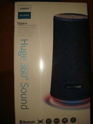 Anker Soundcore Flare+ Portable 360° Waterproof Bluetooth Speaker- Blue- NIB!!!