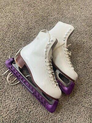 Size 6.5 Riedell Model 220 Figure Skating Ice Skates Girls Womens Ladies SZ6 -