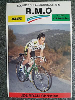 AK o.Orig.AG Christian Jourdan Team RMO 1989 Rarität!