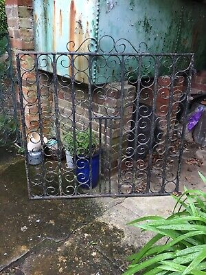 """Wrought Iron Garden Gate (vintage salvage) 40's 50's Square 45"""" High 45"""" Wide"""