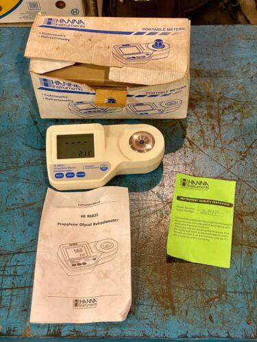 Hanna Propylene Glycol Analysis Digital Refractometer Model HI 96832