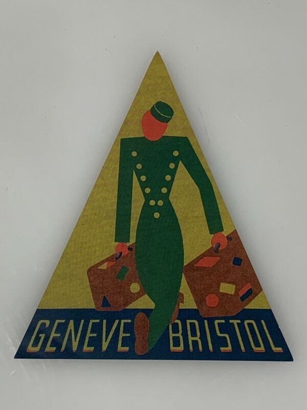 Travel Geneve Bristol Travel Sticker Luggage Decal Hotel Europe