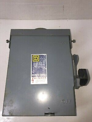 Square D 30 Amp Circuit Breaker Box Safety Switch 240 Vac Phase Du-321-rb