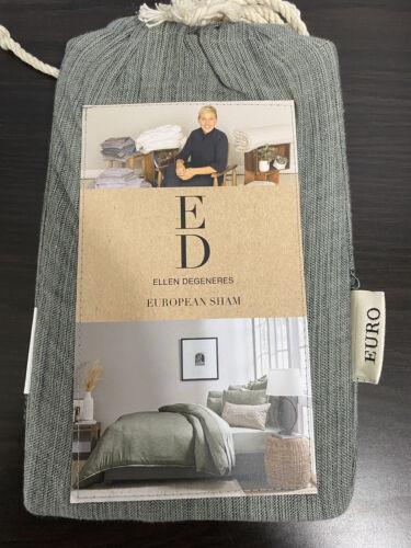 "Ellen Degeneres Belmont Euro Sham Jade Green NIP 26×26"" Pillow Sham Bedding"