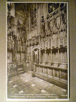 72363.North W. Corner & Entrance Door,Thistle Chapel,St.Giles Cathedral:Postcard