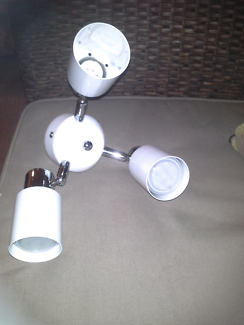 Fan or ceiling spot light white /chrome