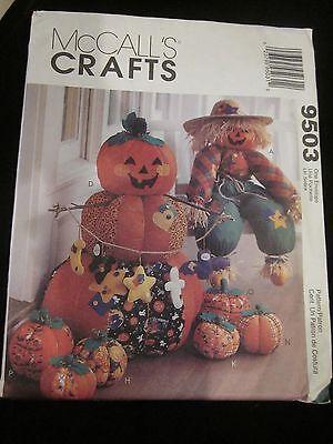McCALL'S CRAFTS PATTERN 9503 HALLOWEEN FUN UNCUT BRAND - Fun Halloween Crafts