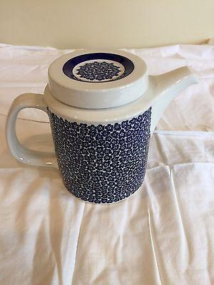 RARE Tea/Coffee Pot BLUE FAENZA Design Inkeri Seppälä Arabia Finland Mid Century