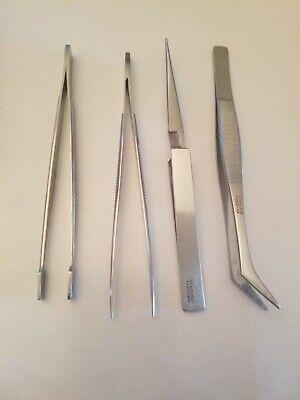 New Stainless Steel Tweezers 5 - Set Of 4