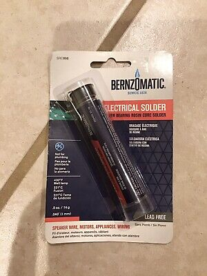 Electrical Solder Silver Bearing Rosin Core Lead Free .040 Bernzomatic Src050