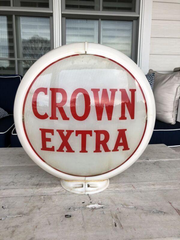Vintage Rare Crown Extra Gas Pump Globe