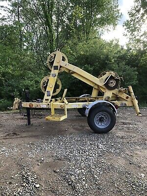 Utility Wire Reel Tensioning Trailer Cable Reel Trailer Fiber Reel Trailer