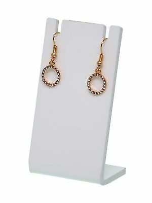 Earring Necklace Display Jewelry Show White Acrylic Rack Stand Holder Earing