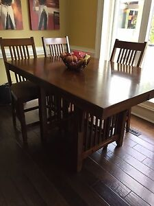Counter Height Mission Style table and chairs
